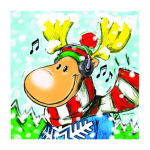 Greeting Card Rudolph