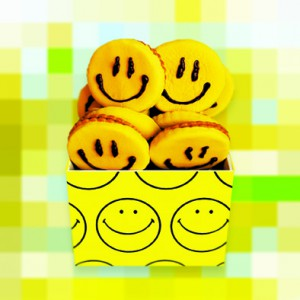 Post Greeting Card Smiley Face Cookies