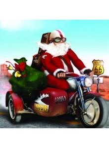 Поздравителна картичка Дядо Коледа Route 66