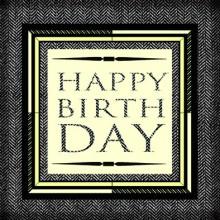 Поздравителна картичка Happy Birthday
