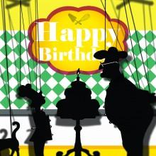 Поздравителна картичка Happy Birthday Cake
