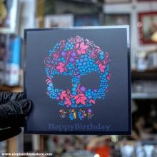 Поздравителна картичка Череп от Цветя