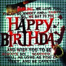 Поздравителна картичка Happy Birthday Sweet and Tasty