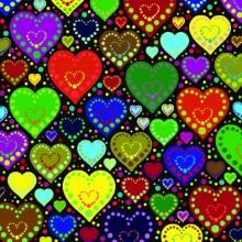 Поздравителна картичка Hearts
