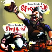 Поздравителна картичка Heavy Birthday