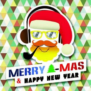 Поздравителна картичка Hipster Christmas
