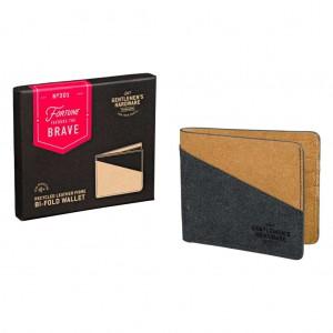 Bi-fold Recycled Leather Wallet GEN301