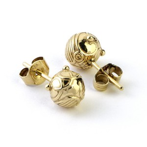 Silver Stud Earrings Harry Potter Golden Snitch