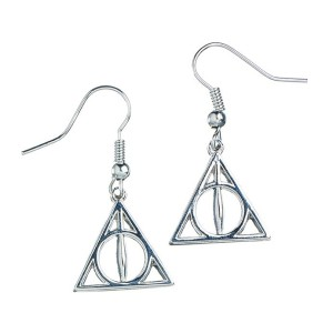 Harry Potter Deathly Hallows Silver Earrings