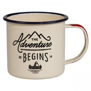 "Бяло емайлирано канче GEN025 ""The Adventure Begins"""