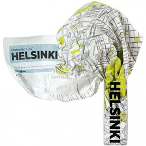 Crumpled City Map Helsinki