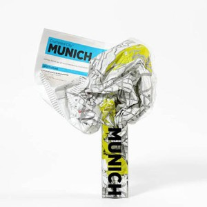 Crumpled City Map Munich
