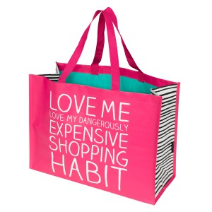 HAP079 Big Grocery Bag Love Me