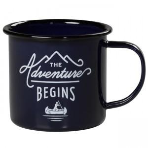 """Синьо емайлирано канче GEN082 """"The Adventure Begins"""""""