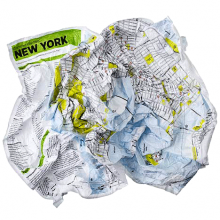 Джобна Непромокаема Карта Ню Йорк