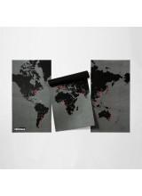 Карта Pin World Голям Размер