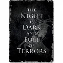 SSA5GT01 Метална Табела А5 The Night is Dark