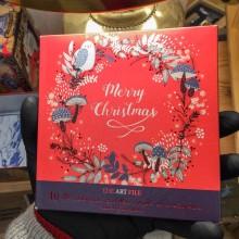 10 Броя Коледни Картички Лисица Птица и Гъби