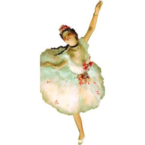 Greeting card and stickers DEGAS BALLERINA