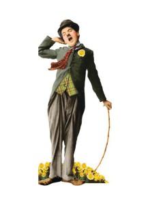 Поздравителна картичка и стикери – Чарли Чаплин