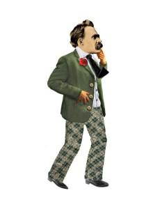 Поздравителна картичка и стикери – Фридрих Ницше