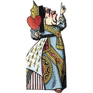 Поздравителна картичка и стикери – Кралицата на сърцата