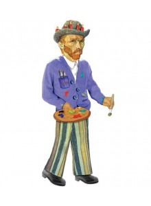 Поздравителна картичка и стикери – Ван Гог
