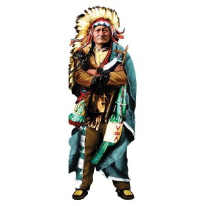 Greeting card and stickers SITTING BULL