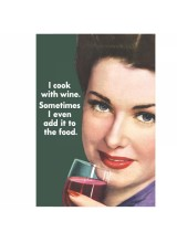 Картичка   I cook with wine