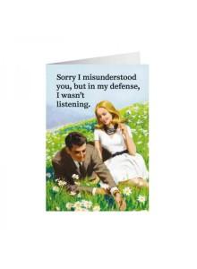 Картичка | Misunderstood not listening