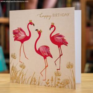 Greeting Card Flamingos
