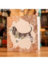 Поздравиелна Картичка Куче Basset Hound