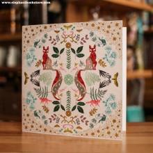 Поздравиелна Картичка Лисици
