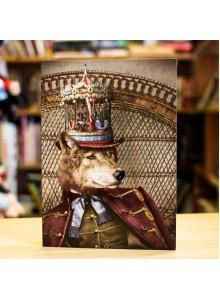 Поздравителна Картичка Adrian Higgins Dapper Wolf