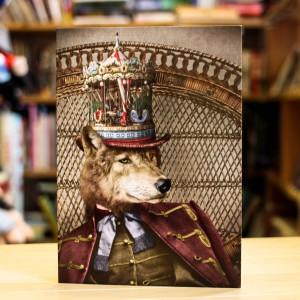 Greeting Card Adrian Higgins Dapper Wolf