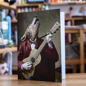 Greeting Card Adrian Higgins Howling Wolf