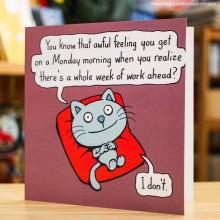 Поздравителна Картичка Awful Feeling