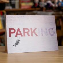Поздравителна Картичка Banksy Parking