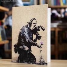 Поздравителна Картичка Banksy Photographer Flower