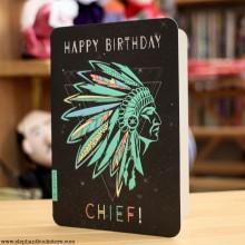 Поздравителна Картичка Chief