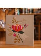 Поздравителна Картичка Цвете