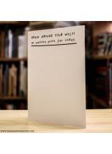 Поздравителна Картичка Draw Around Your Willy