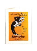 Поздравителна Картичка Джаз Импровизация Висок Печат