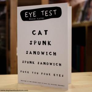 Поздравителна Картичка Eye Test