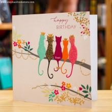 Поздравителна Картичка Five Crown Cats