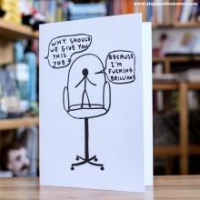 Поздравителна Картичка Fucking Brilliant