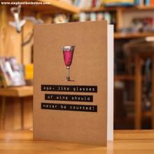 Поздравителна Картичка Glasses of Wine