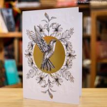 Поздравителна Картичка Hummingbird