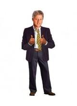Поздравителна картичка и стикери Бил Клинтън