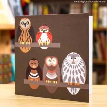 Поздравителна Картичка Owl Quintet